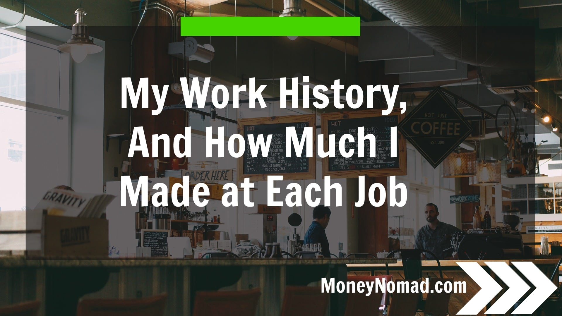 my work history and how much i made at each money nomad